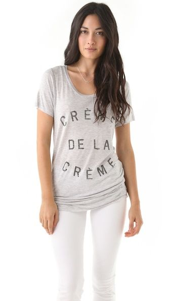 Zoe Karssen Creme De La Creme Tee (Want so bad...sold out everywhere!)