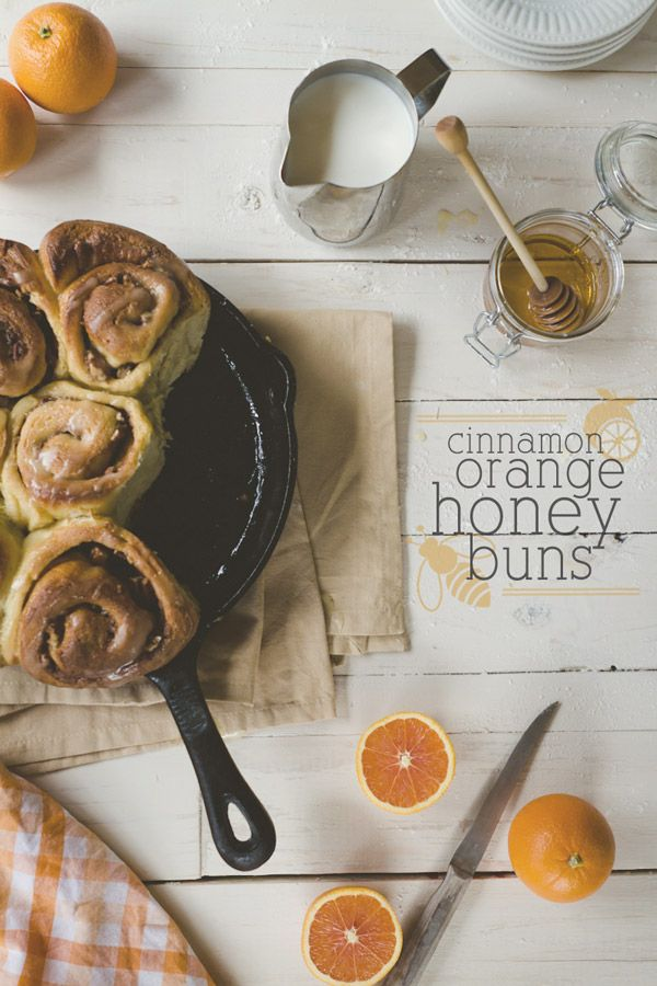 Cinnamon honey orange buns
