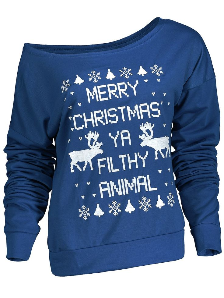 Stylish Letter and Snowflake Print Pullover Christmas Sweatshirt For Women, 4 colors, S-XL, Euro 9,°