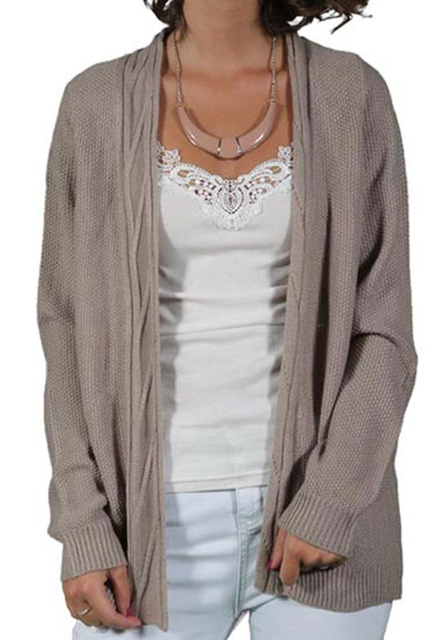 Cardigan Dama VERO MODA Julie Open Moon Rock