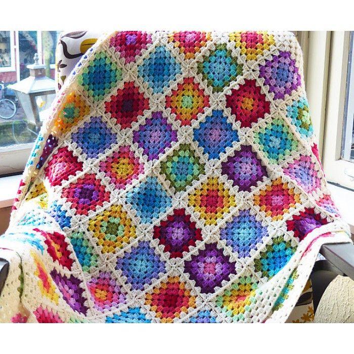Best Of Crocheted Granny Square Blanket Kit Crochet Supplies For Beginners Of Mar Crochet Blanket Rainbow Crochet Square Patterns Crochet Patterns Free Blanket
