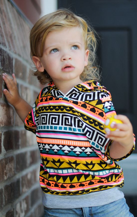 Aztec hoodie and love the hair: