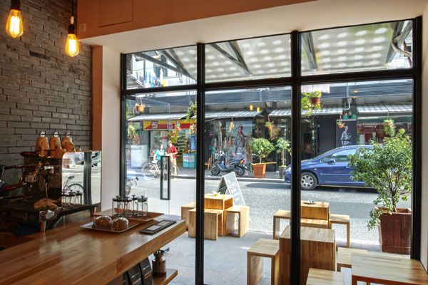 Cafe Entrance - Inside View