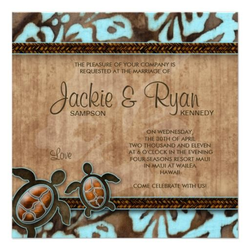 Beach Wedding Invitation Turtle Blue Brown  $2.50 ::: SAVE 14.92% -- click to see details!  POSTED October 8, 2014, 11:45pm