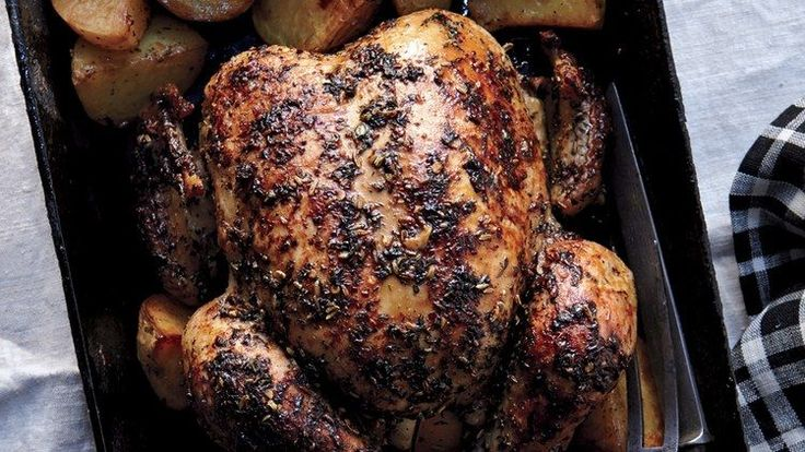 Herbed Faux-tisserie Chicken and Potatoes Recipe | Bon Appetit