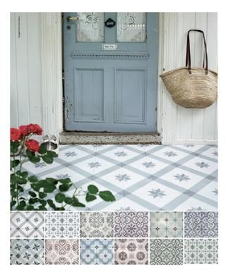Nice vintage tiles for either.. Vintage tiles idea | 3 BY FRYD