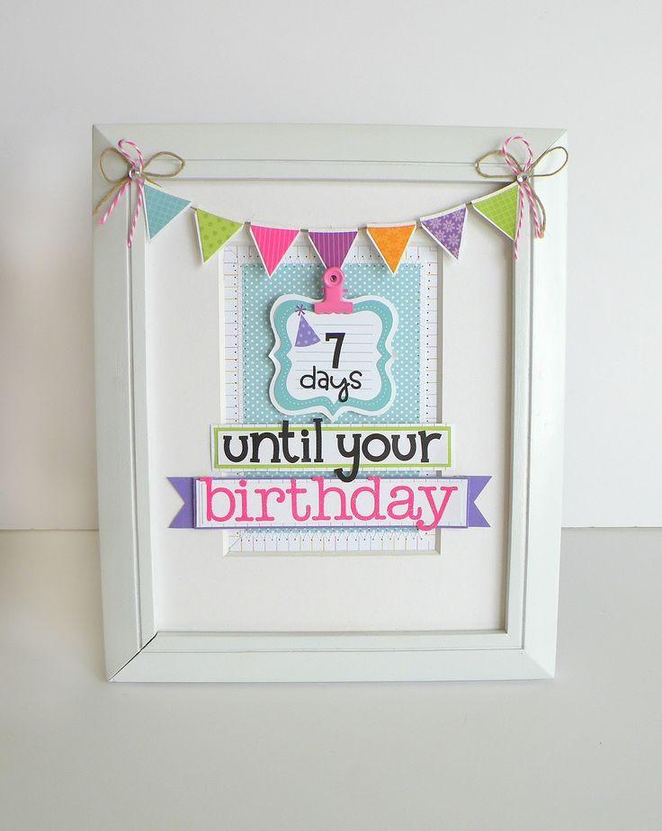 Doodlebug Design Inc Blog: Framed Birthday Countdown by Stephanie