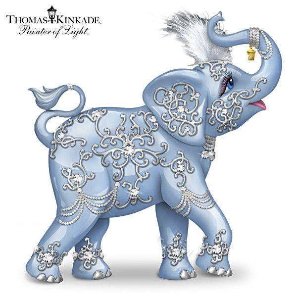 Thomas Kinkade Crystal Elegance Figurine Collection