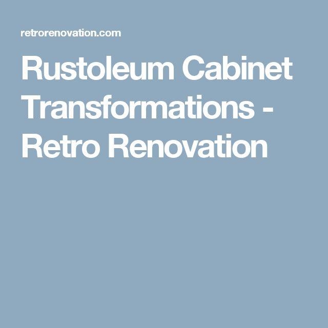 Rustoleum Cabinet Transformations - Retro Renovation