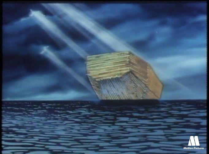 Fin del diluvio universal. El arca de Noe, dibujos de la biblia, dibujos cristianos