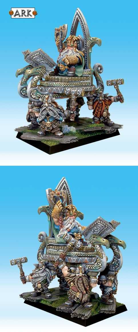 CoolMiniOrNot - High King Thorgrim Grudgebearer on Throne of Power by Arkaal
