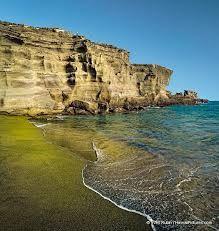 Papakolea. Green Sand Beach on the Big Island. #BestBeaches #Travel #Hawaii #BigIsland #Wanderlust