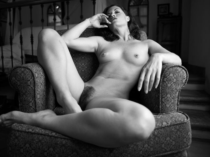 Reclining nude black and white speaking