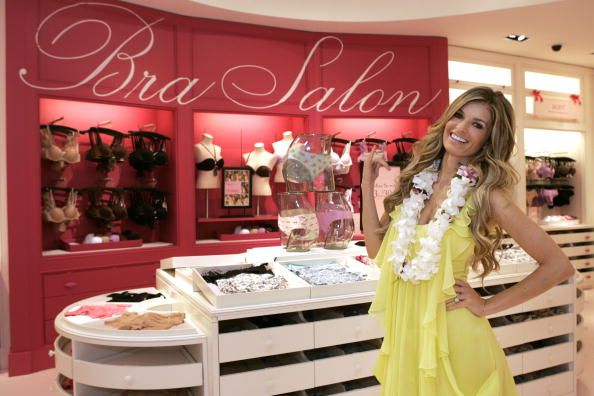 Marisa Miller flashes a Hawaiian 'shaka' at the grand opening of Hawaii's first ever Victoria's Secret store at Ala Moana Center on October 1 2009 in...