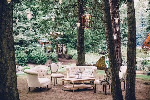 One Couple's Enchanted Forest-Inspired Backyard Wedding in McCall, Idaho