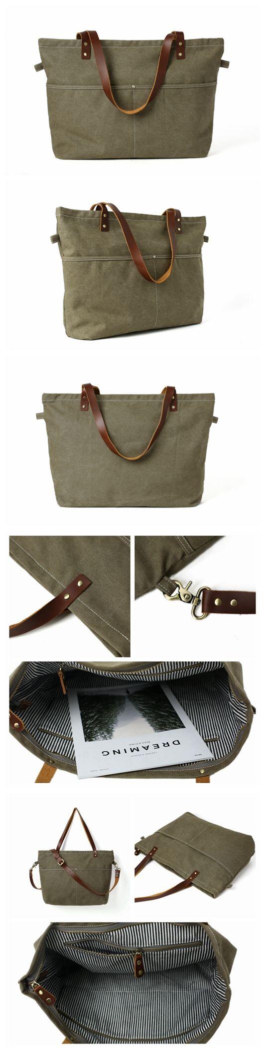Handmade Canvas Tote Bag Messenger Bag Shopper Bag Shoulder Bag Handbag 14022 http://www.allthingsvogue.com/best-stylish-tote-bags/