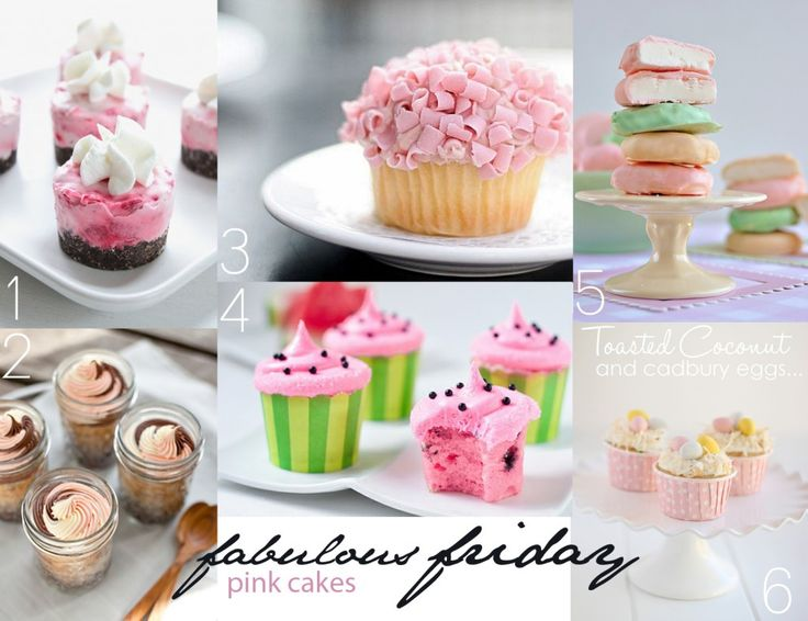 pink cakes on the Etz blog for Fab Friday!