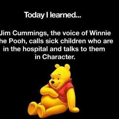 Disney voice of Winnie the Pooh bc he practices Paying it Forward