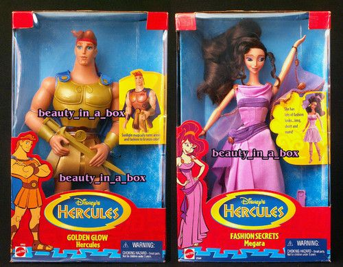 Golden Glow Hercules and Fashion Secrets Megara Doll Disney Barbie Lot 2 | eBay