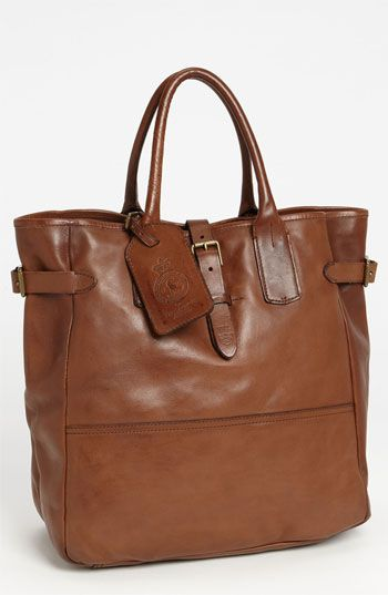"""I think I found my """"I just got a book deal"""" gift to myself.   Polo Ralph Lauren Leather Tote available at Nordstrom"""