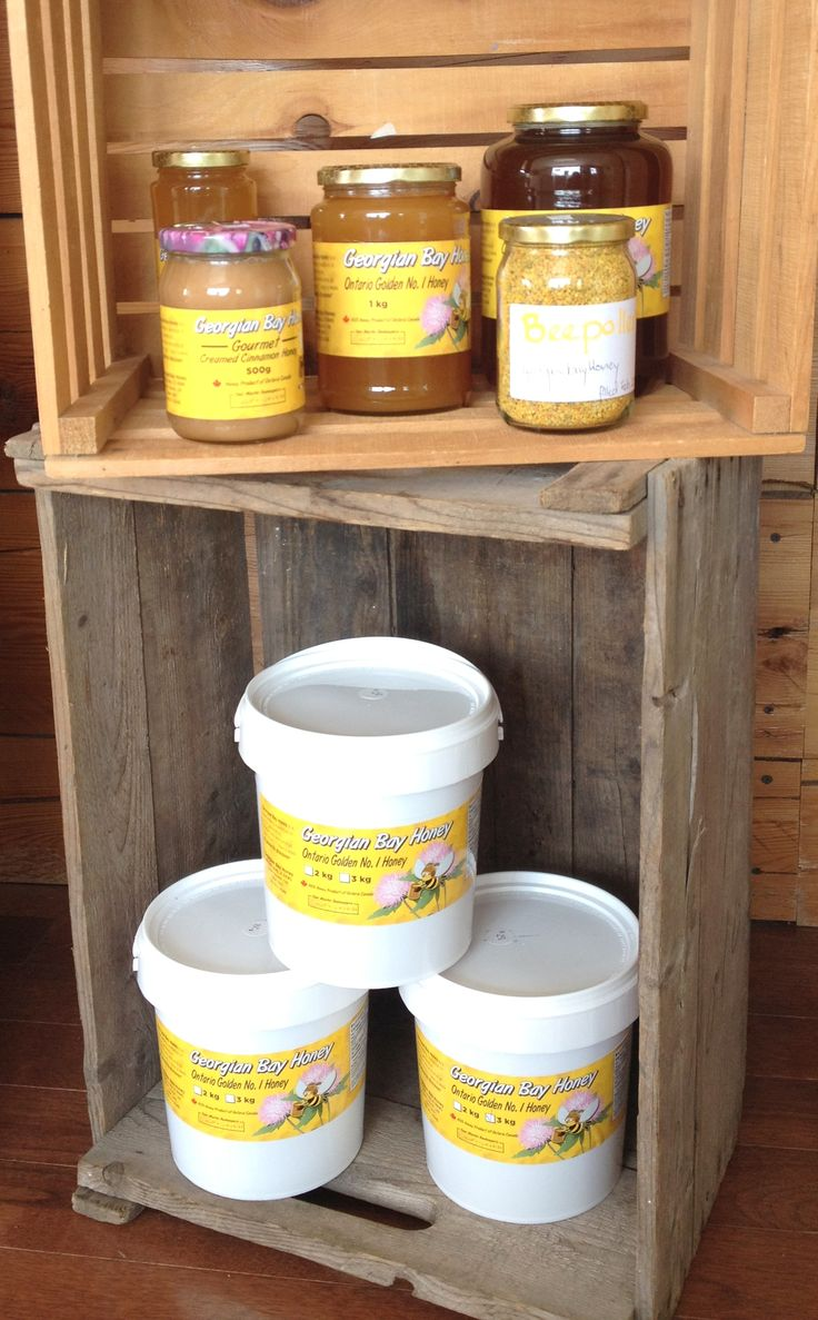 Local honey from Georgian Bay Honey, our neighbours in Alvanley, ON