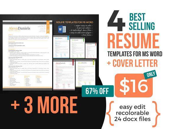 Best Selling Modern Word Resum by Inkpower on @mywpthemes_xyz - mis resume