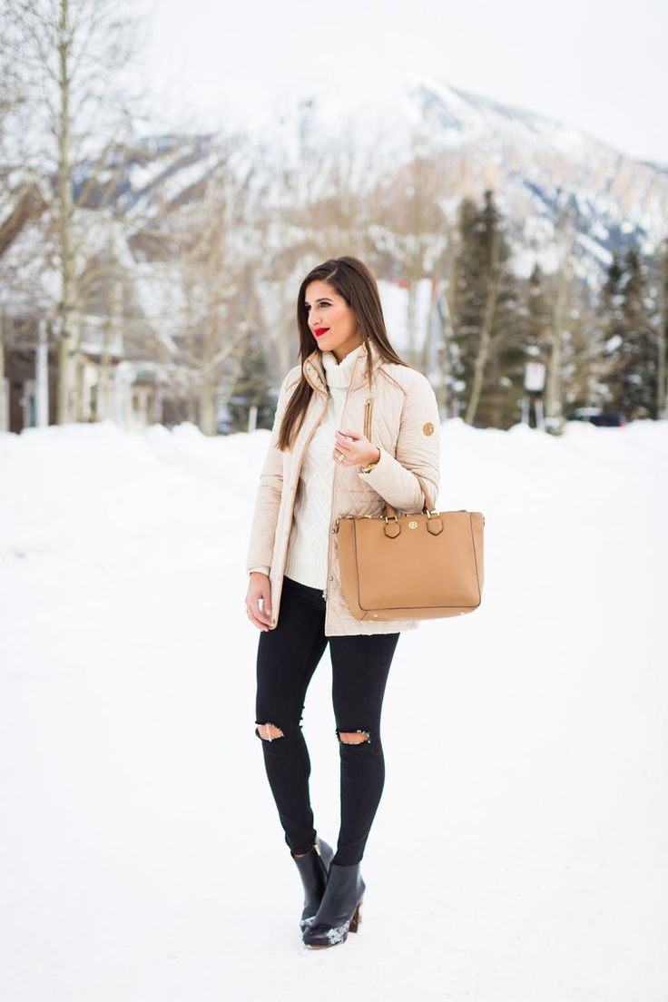 Cream Quilted Jacket | A Southern Drawl