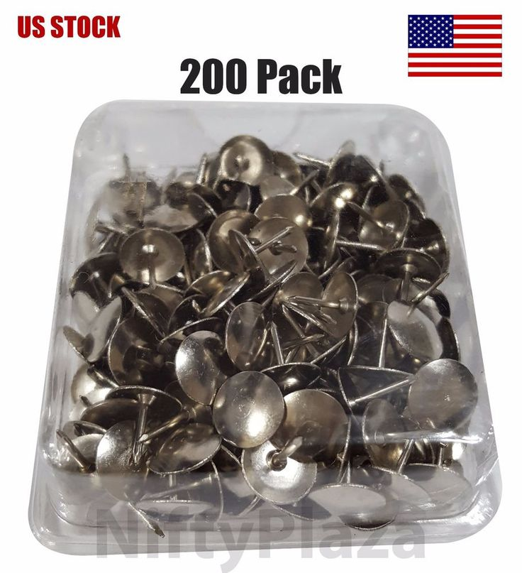 Check out #Thumb_Tacks #Nickel #Silver #Push #Smooth #Steel #Heads #Pins 200 per Pack - #US_Ship #Bazic