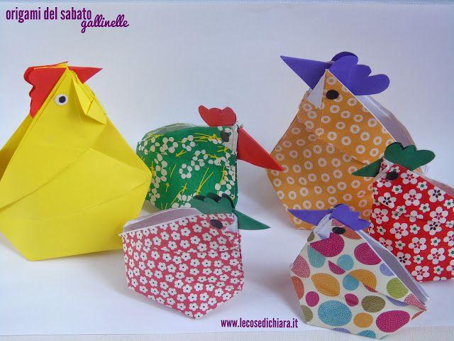 LE COSE DI CHIARA HANDMADE: origami del sabato: gallinelle