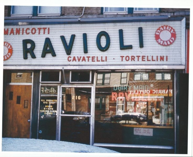 1959 216 Avenue U GRAVESEND Brooklyn NYC Ravioli Italian Dairy Maid Color Photo