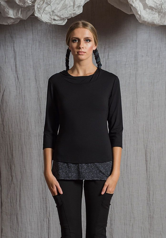 Greta singlet storm yarn – Sustainable Fashion Australian made bamboo jersey. All Rant Clothing garments are ethically made in Brisbane Australia.  Sustainable Fashion