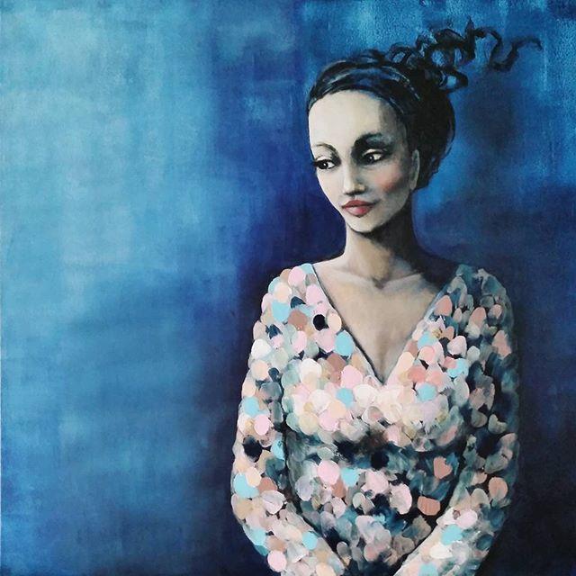 Feeling blue - Art by Malin Östlund
