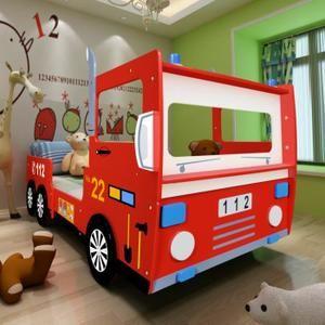 Lit Enfant Camion de Pompier 200 x 90 m - Achat / Vente lit bébé 8718475868309 - Cadeaux de Noël Cdiscount