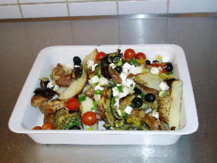 Græsk kartoffelsalat:, Grækenland,Andet, Frokost, gårsdagens rester, opskrift