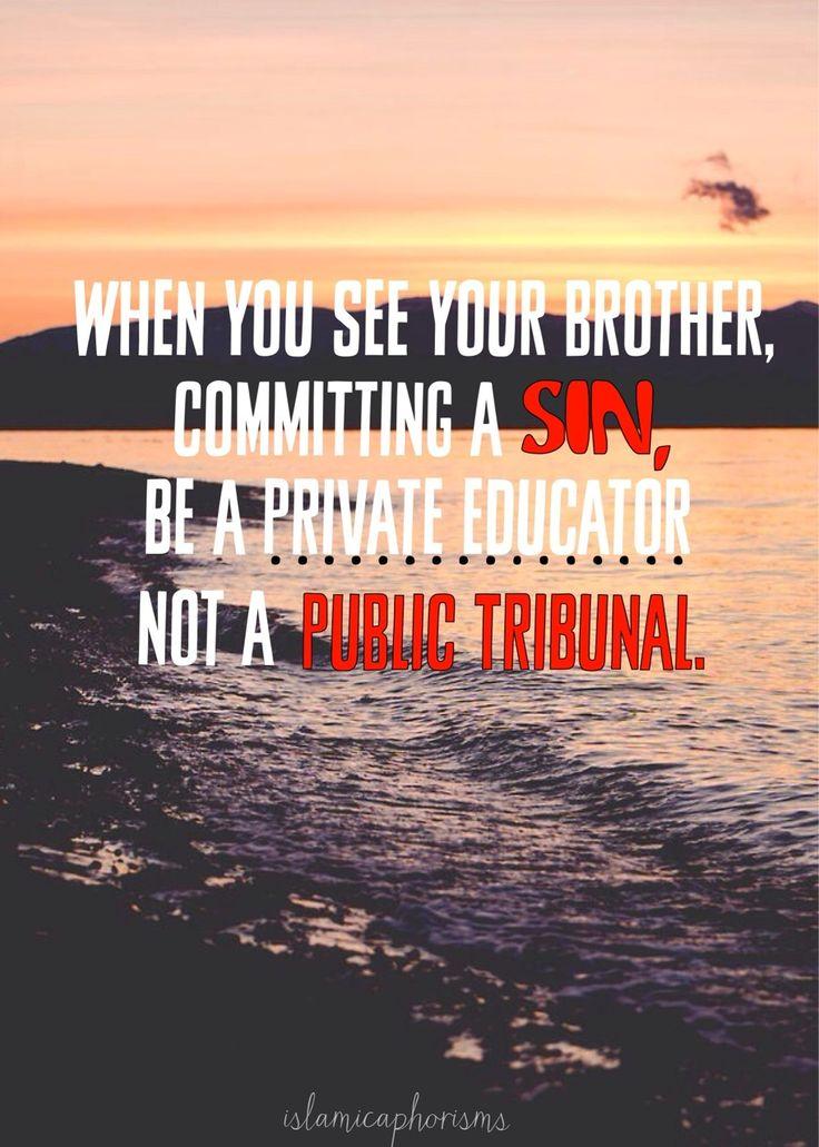 ~ Tariq Ramadan, friends warn each other privately