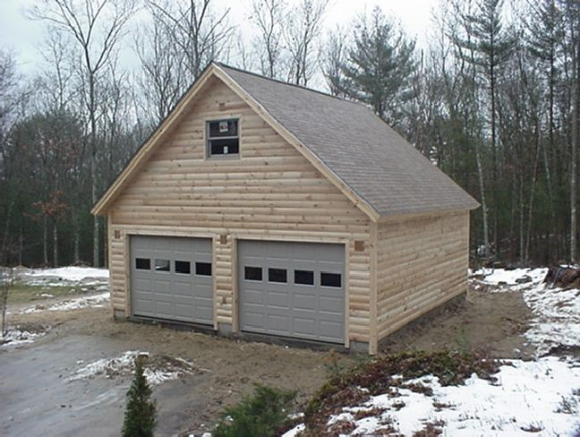 1000 ideas about steel garage on pinterest metal shop Log garage kits with loft