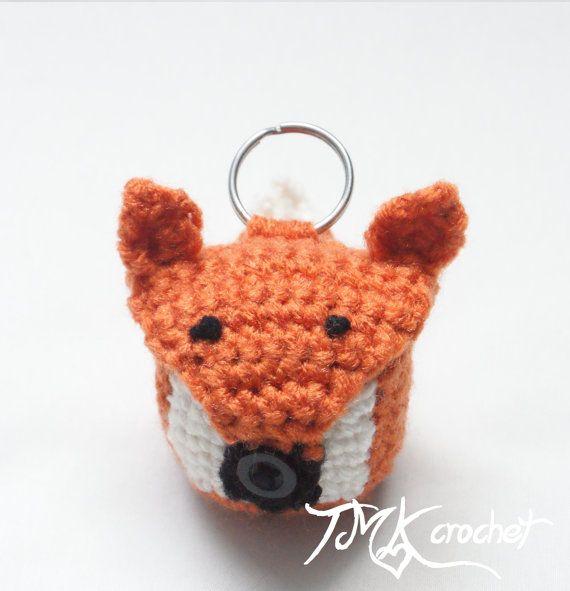 Crochet Fox EOS Lip Balm Holder PDF Pattern. by TMKCrochet