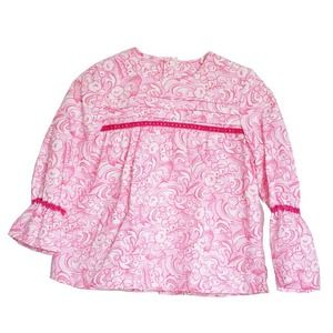【Kids】ピンク花柄ブラウス ニャコ #キッズファッション #ベビーファッション #スペインブランド#ブラウス #ニャコ