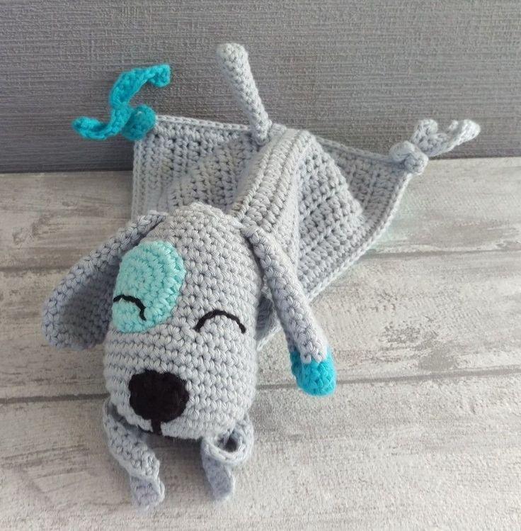 Schnuffeltuch Hund - Häkelanleitung - Häkelanleitungen bei Makerist