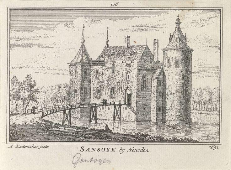 Kasteel Gansoijen, Abraham Rademaker, Willem Barents, Antoni Schoonenburg, 1727 - 1733