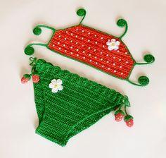 Ravelry: MORANGO biquíni, duas peças maiô padrão pelo atelier Crochet-