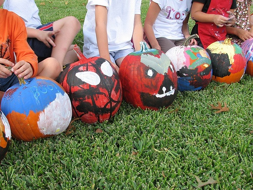 A pumpkin painting party!