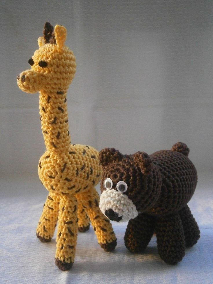 crocheted giraffe & bear https://www.facebook.com/kalypso.h