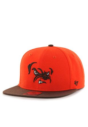 '47 Cleveland Browns Orange Lil Shot Snapback Hat