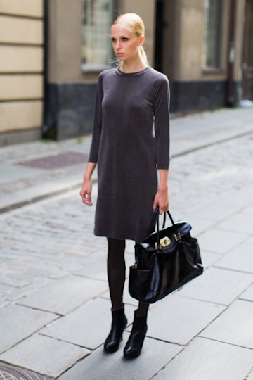 Emerson Fry Lang Layering Dress in Sealskin Grey--love all of it., love