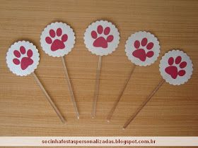 Secinha Festas Personalizadas: Kit para aniversário tema cachorro