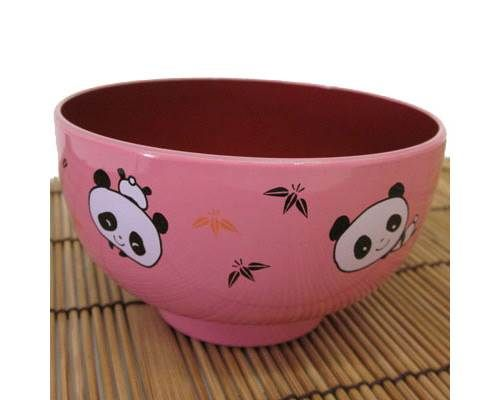 This Pink Panda Bowl will become a child's favorite bowl for cereal, soup, noodles or rice. Made in Japan.