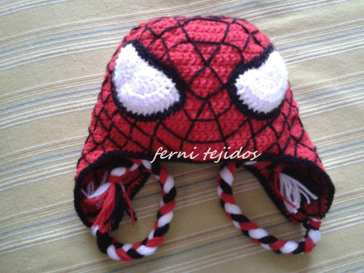 gorro spiderman