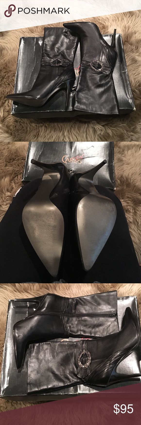 Carlos Santana boots Carlos Santana boots - worn once - excellent condition Carlos Santana Shoes Heeled Boots
