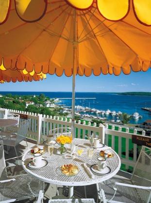 View from the Fort Mackinac Tea Room, Mackinac Island, MI